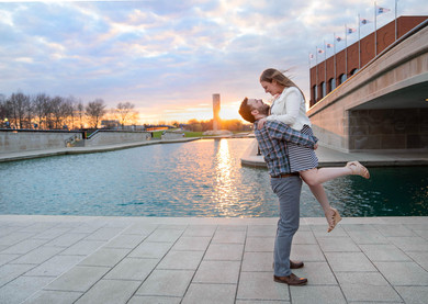 engagement session in Indy