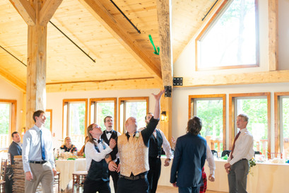 Indianapolis Wedding Photographer - garter toss