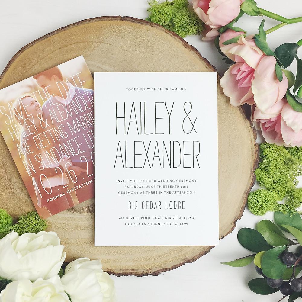 basic invites elegant wedding invitations