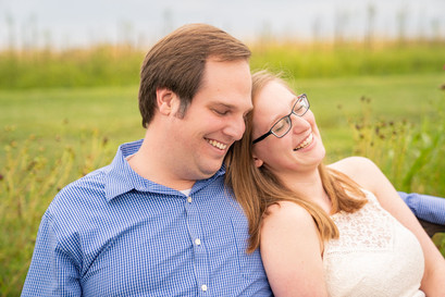 Indianapolis Wedding Photography - couple cuddling in field