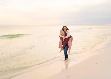 cute couple at the beach
