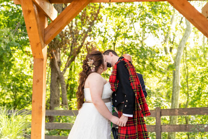 Indianapolis Wedding Photographer - bride and groom first kiss