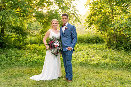 Posed shot of couple at Styled Shoot by Emma Males Photography at The Vineyard Gardens in Indianapolis Indiana