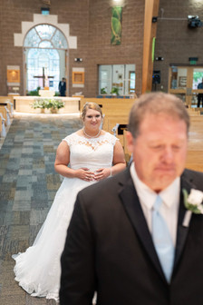 Published Indianapolis Wedding Photographer Emma Males - Bride First Look With Dad
