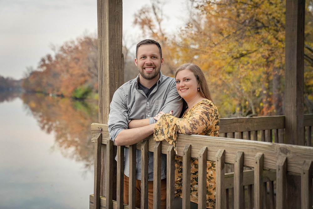 Fall broad ripple park engagement session
