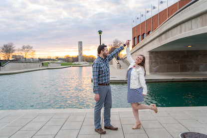 downtown Indianapolis engagement photo