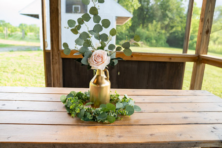 Centerpieces at Vineyard Styled Shoot at The Vineyard Gardens By Royal Weddings and Events with Photography by Emma Males Photography