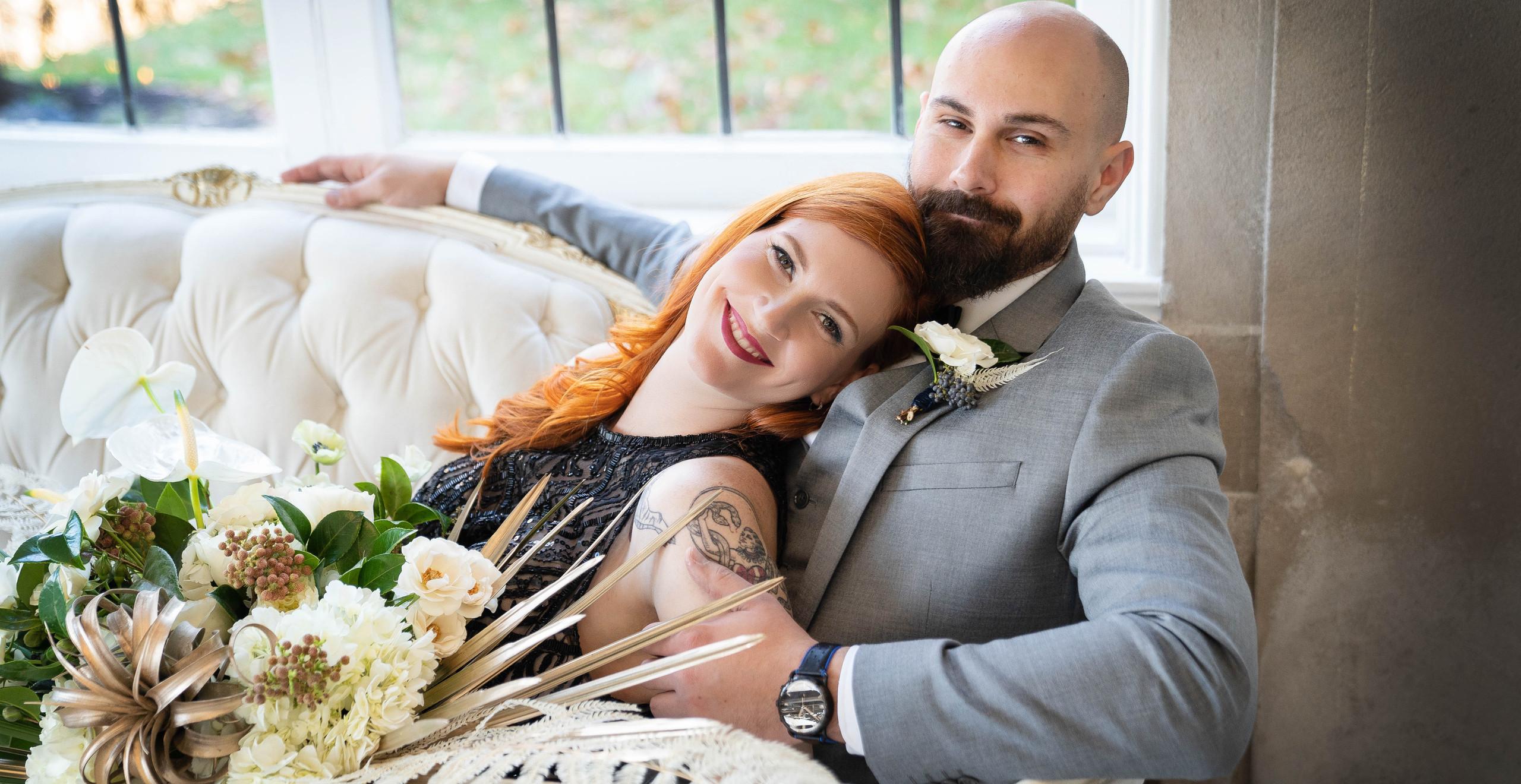 Laurel Hall wedding couple