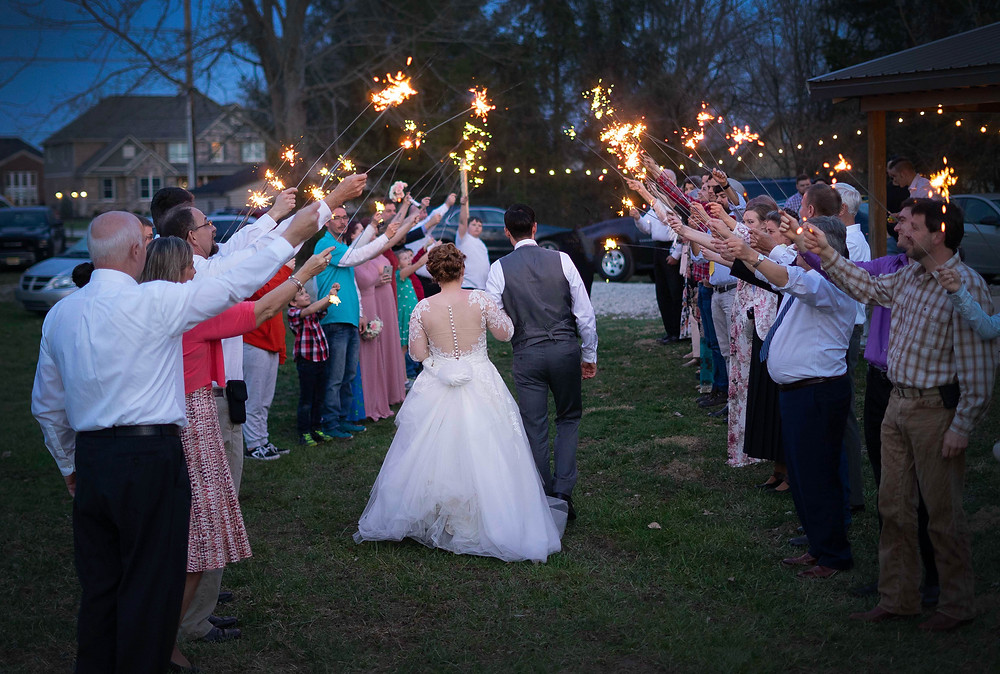 wedding sparkler send off Indiana