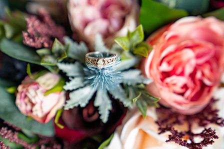 Ring and Flowers at Vineyard Styled Shoot at The Vineyard Gardens By Royal Weddings and Events with Photography by Emma Males Photography