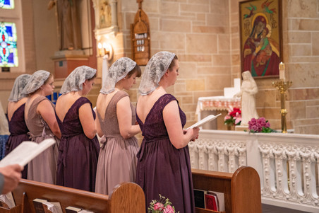 ceremony pictures at beautiful catholic church - Emma Males Photography
