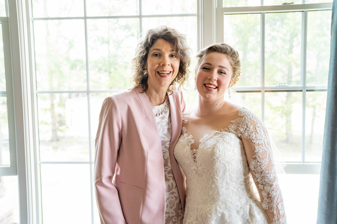 bride and mother portrait