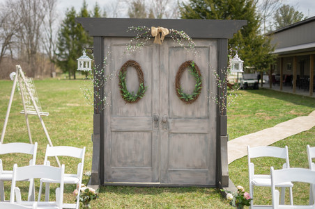 doors for wedding ceremony