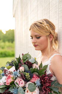 Close up of bride at Styled Shoot by Emma Males Photography at The Vineyard Gardens in Indianapolis Indiana