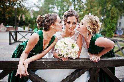 Bride and Bridesmaids beautiful hair