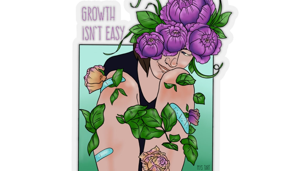 Growth is Beautiful Kiss-Cut Stickers