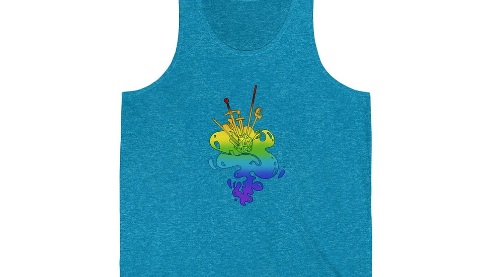 Party Hard in Gay Unisex Jersey Tank