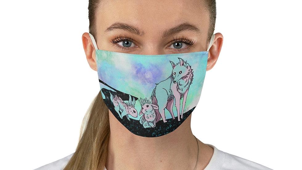 Crystal Rabbits Fabric Face Mask