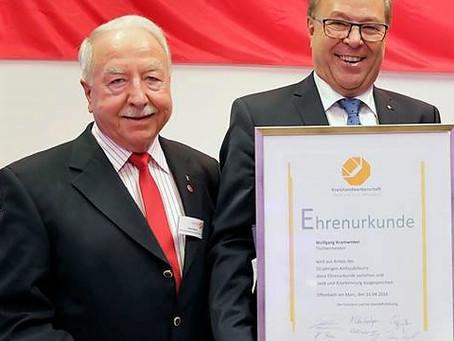 Obermeister Horst Braun erhält Ehrenbrief des Landes Hessen