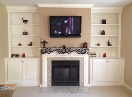 Fireplace wall unit