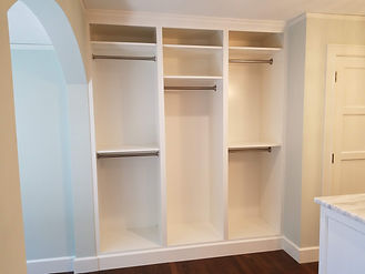 Open hanging closet