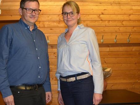 Die beiden Neuen: Leistpräsident René Feller und Sekretärin Gabriela Feller