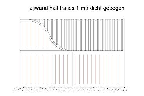 Zijwand 1° mtr gebogen planken / spijlen 4000 mm