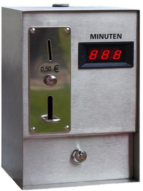 RVS Muntautomaat met minuten aanduiding 400V AC versie
