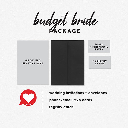 Thats What She Said Budget Bride Package