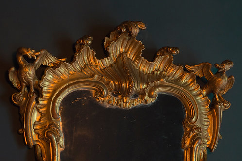 Chinese Chippendale rococo giltwood mirror mid 19th century