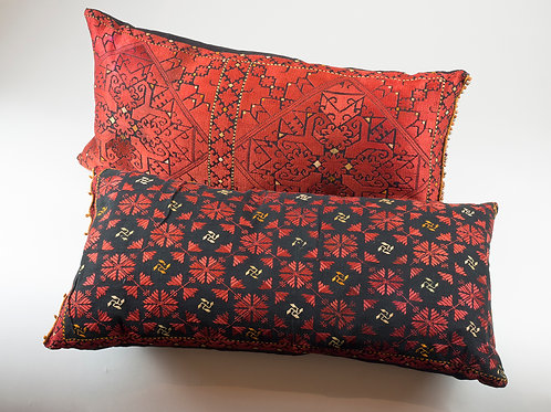 Swat Valley silk marriage pillows early 20th century
