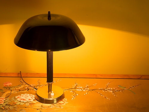 Falkenbergs Belysning desk lamp mid century Swedish lamp in brass and teak