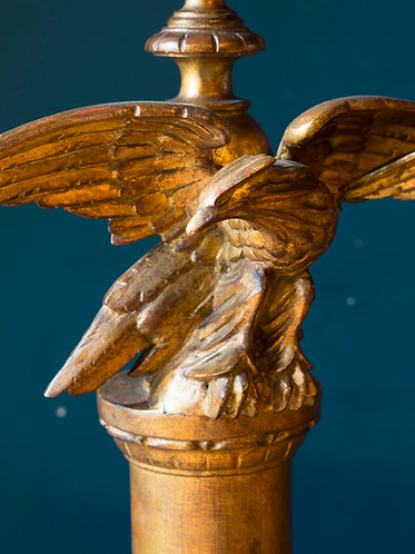 a pair of large carved giltwood eagle lamps. Italian circa mid 20th century