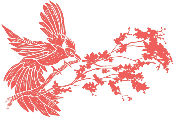 hot coral bird on branch.png