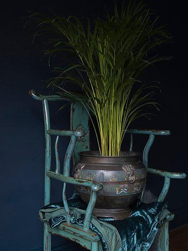Extra Large Chinese Bronze and Enamel Planter