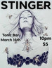 SATURDAY MARCH 16TH ROCK OUT WITH STINGER