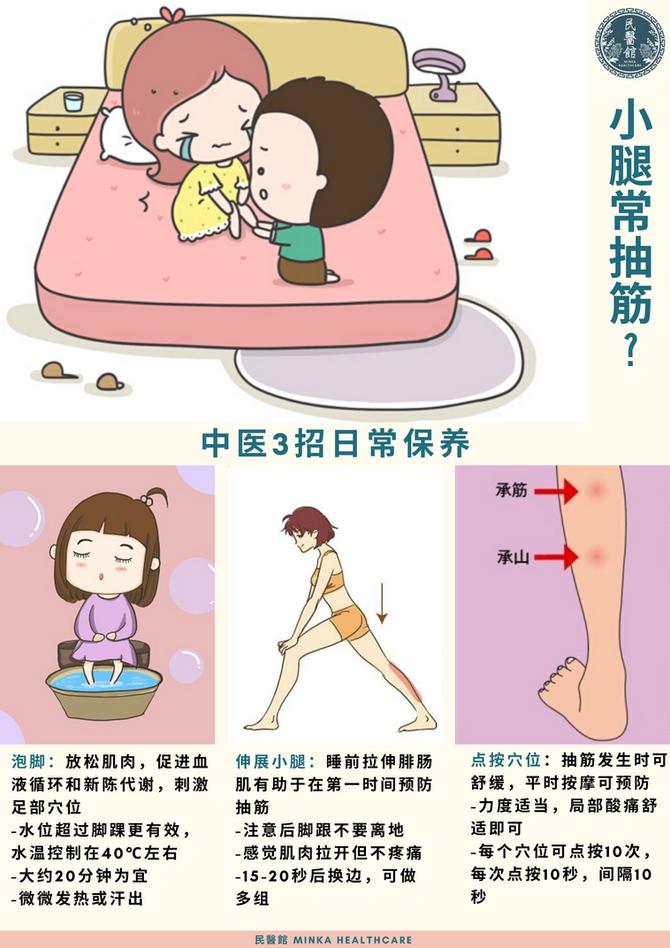 3招预防小腿抽筋