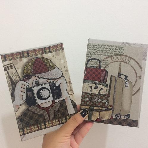 Caderno de Anotações de Viagens: Paris Vintage