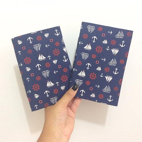 Caderno de Anotação de Viagem Artesanal: Navy