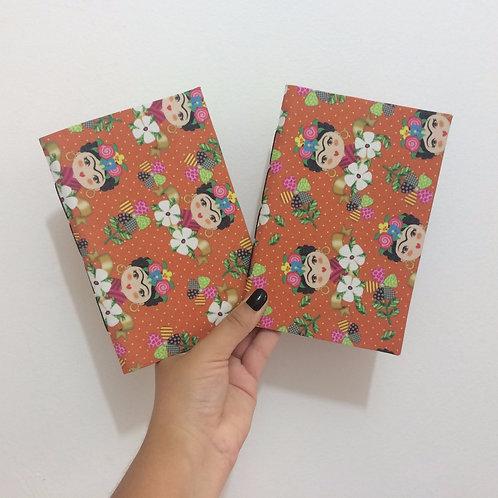 Caderno de Anotação de Viagem Artesanal: Frida Mexicana