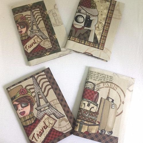 Caderno de Anotação de Viagem Artesanal: Paris Vintage