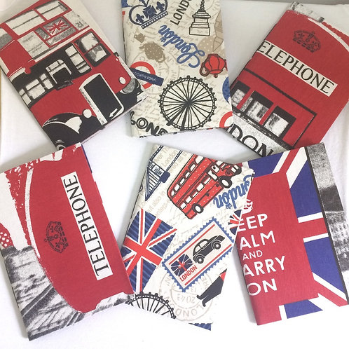 Caderno de Anotação de Viagem Artesanal: Londres