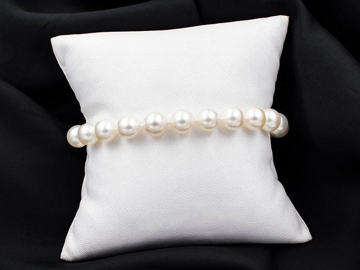 "14K Yellow Gold 8"" Pearl Bracelet"
