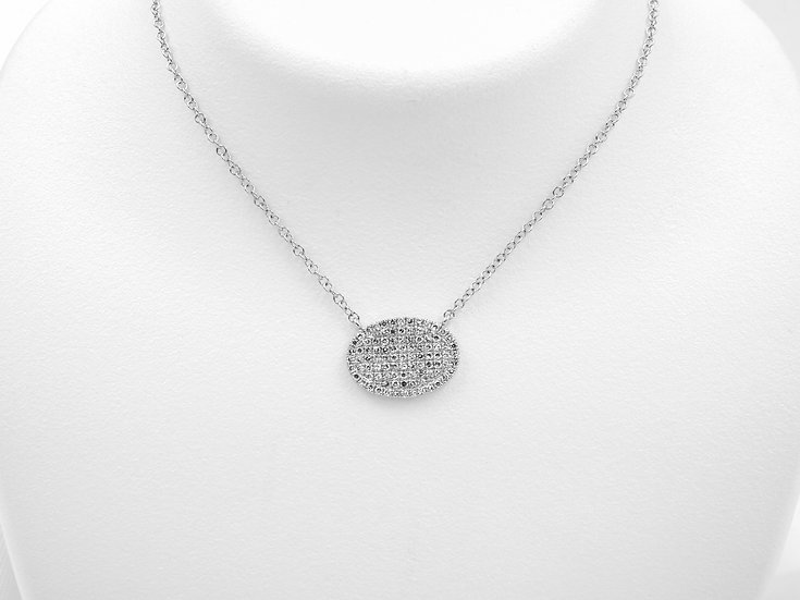 14K White Gold .21cttw Diamond Pendant