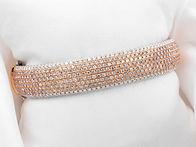 Diamond natural pink mini large bracelet