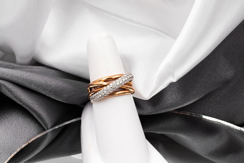 14K Rose Gold .82cttw Diamond Right Hand Ring