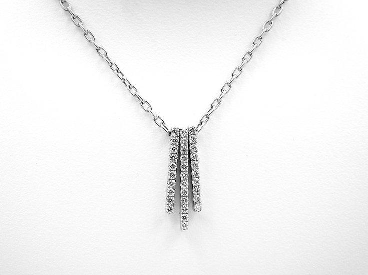 18K White Gold .38cttw Diamond Necklace