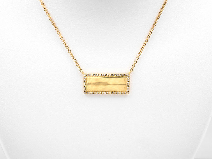 14K Yellow Gold .11cttw Diamond Pendant