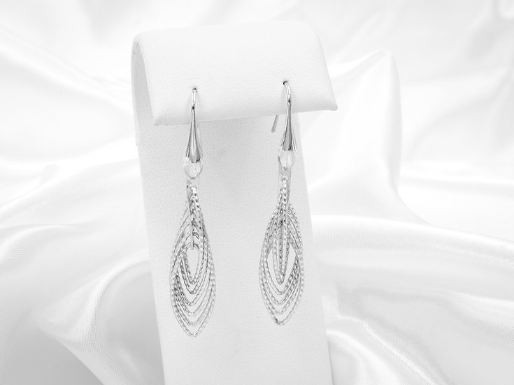 Sterling Silver Branched Dangling Earrings