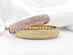 diamond natural yellow and pink bracelet